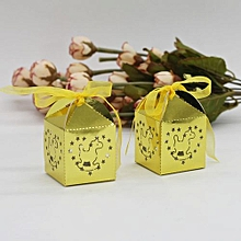 50Pcs Sweet Married Wedding Favor Box Gift Boxes Candy Paper Party Box Case Gold