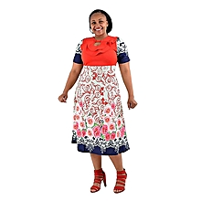 Multicoloured Mid Length Dress