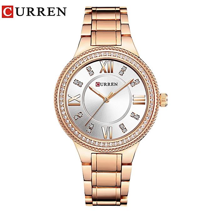 98b869da9 Brand Luxury Women's Casual Watches Waterproof Wristwatch Women Dress  Rhinestone Stainless Steel .