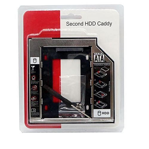 Universal SATA 2nd SSD HDD Hard Drive Caddy For 12 7mm CD/DVD-ROM Optical  Bay