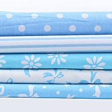 5-Sizes Cotton Fabric Blue Patchwork Batiks Mixed Bundle Sewing Cloth Crafts
