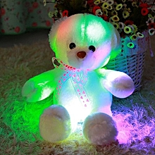 Kisnow Colorful Lights Connect Phones Music Plush Toys Teddy Bears(Color:Rice In Day)