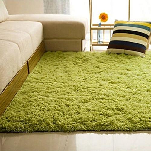 UNIVERSAL Shaggy Anti-skid Carpets Rugs Floor Mat/Cover 80x120cm Grass Green