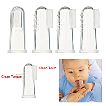 4Pcs Baby Kids Safety Silicone Finger Toothbrush Teeth Care Cleaner Massager