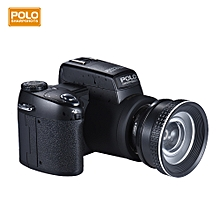 """Polo Sharpshots Auto Focus AF 33MP 1080P 30fps FHD 8X Zoomable Digital Camera w/ Standard + 0.5X Wide Angle + 24X Telephoto Long Lens 3.0"""" LCD Bulit-in Flashlight"""