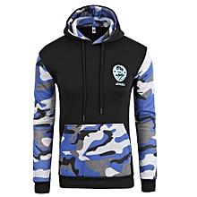 Men's Hot Sale  New Fashion Men's Slim Contrastcolor Camouflage Hoodies Sweatershirt05