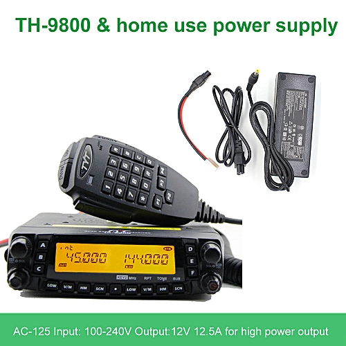 Latest version TH-9800 Quad Band 29/50/144/430MHz 50W Walkie Talkie  Upgraded TH9800 809CH Dual Display Mobile Radio Station