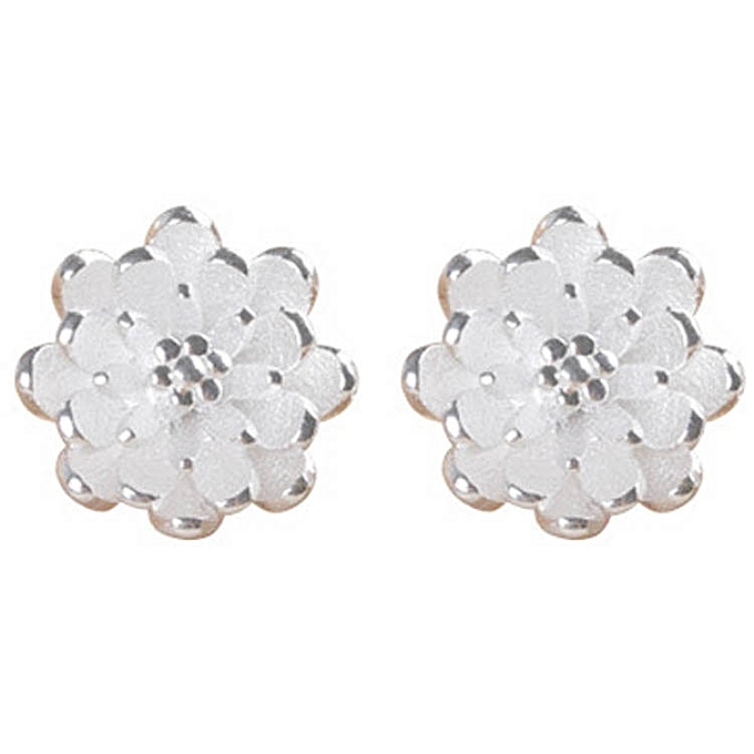 New Women Fashion Lotus Earrings Hypoallergenic Ear Studs Jewelry