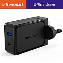 Tronsmart W2PTU 33W Dual USB Port Wall Charger Qualcomm Quick Charge 3.0 + USB C Output QTG-W