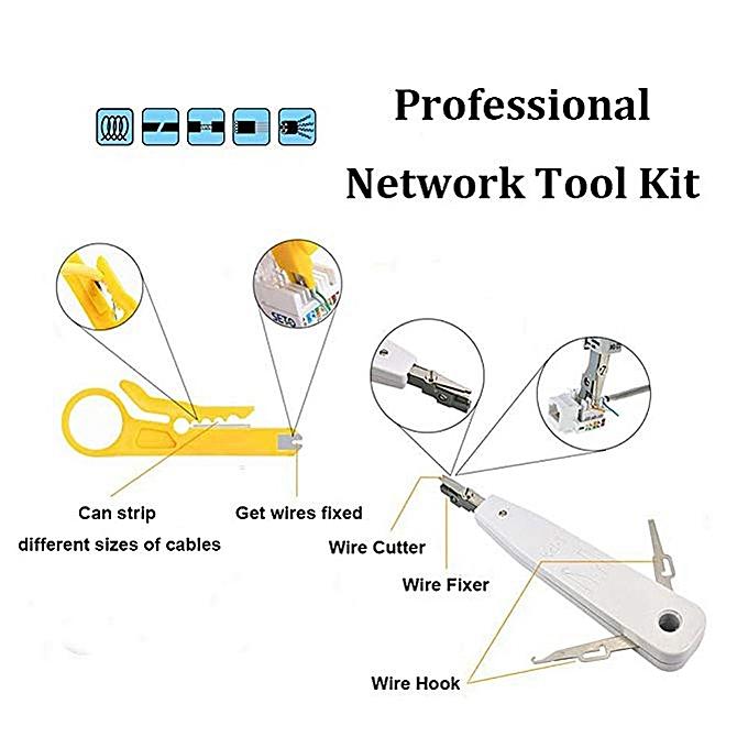 wouwon rj45 rj11 rj12 cat5 cat5e lan network repair tool kit utp cable  tester and plier