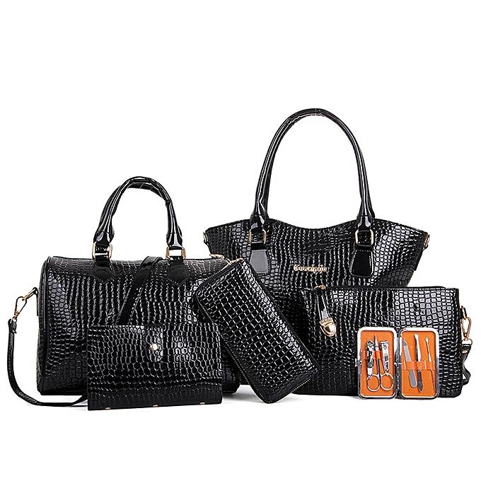 f1fb675ee07e Women Six Set Fashion Handbag Shoulder Bags Six Pieces Tote Bag Crossbody BK
