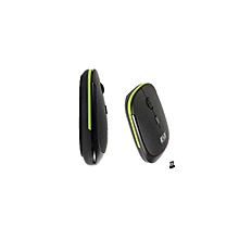 Wireless mouse Ultra-Slim 2.4GHZ with USB Receiver - Black/Green
