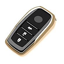 3 Buttons Remote Key Cover Case For Toyota Tacoma Car Protective Gold