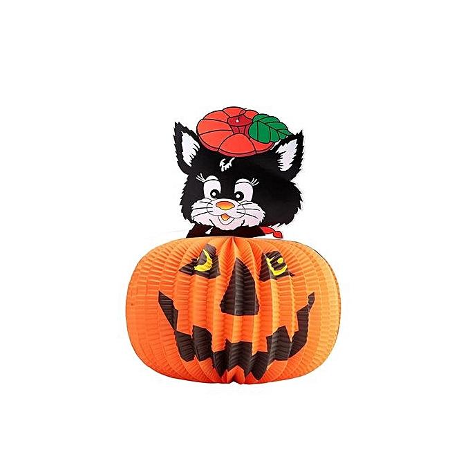 Buy Generic Halloween Lampshade Pumpkin Lantern New Black Cat Ghost ...