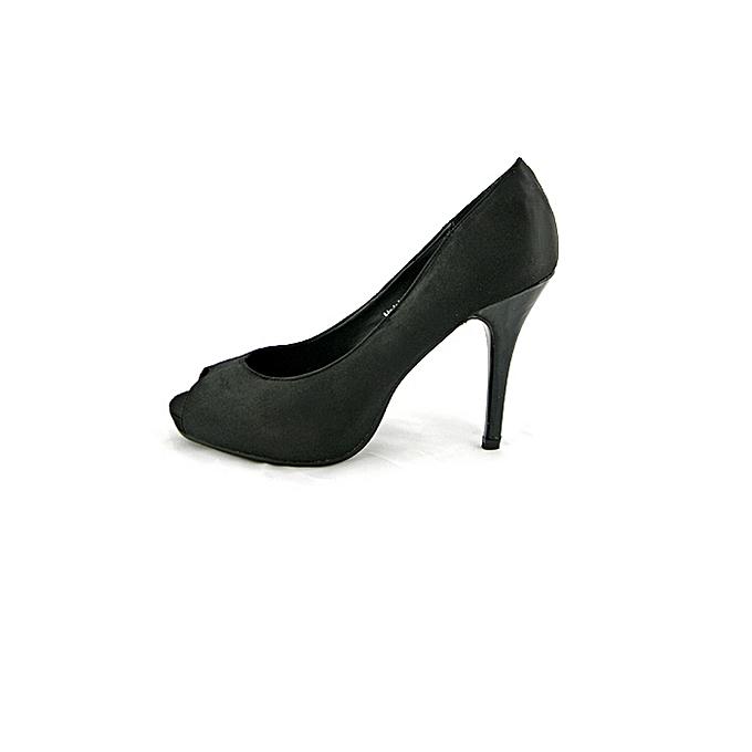 53d77304c0c Black Peep Toe High Heel Shoes