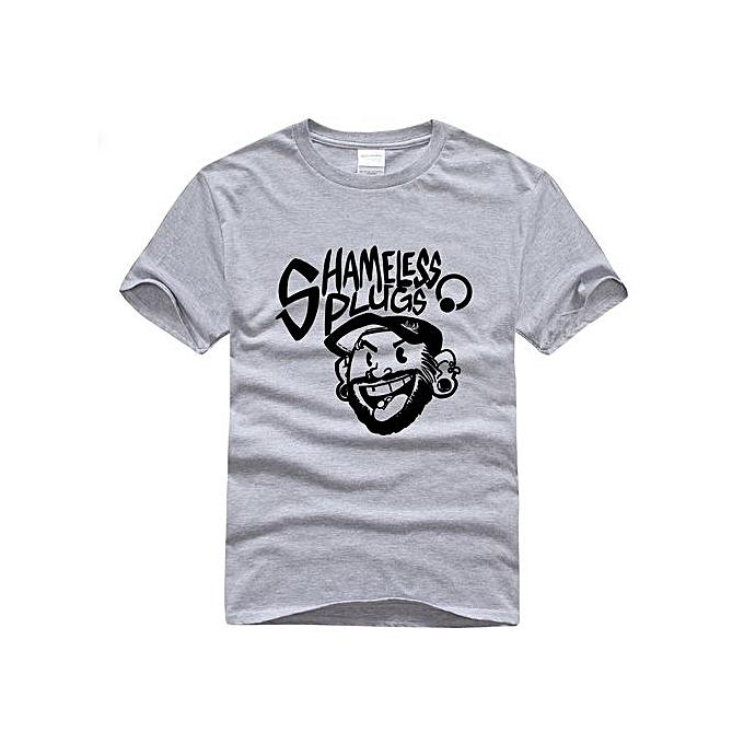 329eac07 Men Tshirt Shameless T Shirts Men Cotton Short Sleeve Funny Print Man T-Shirt  Tops
