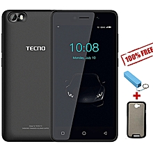 "F1 - [8GB+1GB RAM] - 5.0"" Display - 2000mAh Battery - Dual SIM - Elegant Black+ Free Case + Power Bank."