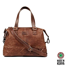 Grace Official Leather handbag- brown