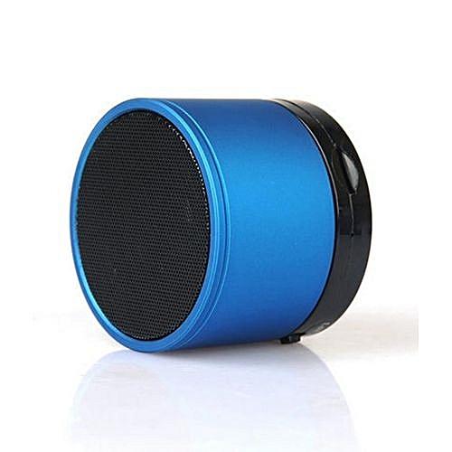 Mini Bluetooth Wireless Stereo Speakers FM, Memory Card, Bluetooth, USB - Blue
