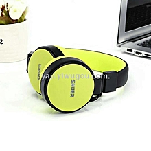 SE-5225 Folderble Wired Stereo Headphone Bass HiFi Sound - Luminous Green
