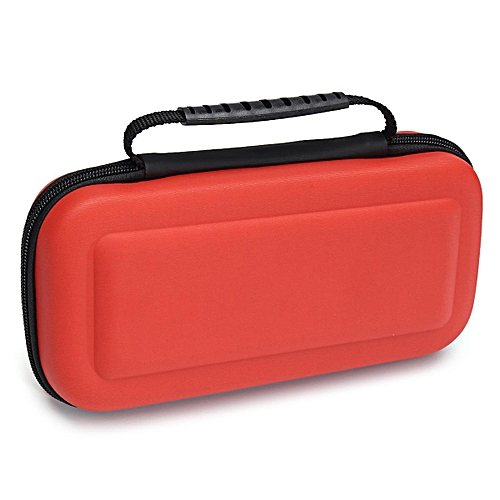 For Nintendo Switch Travel Bag Carry Case + Tempered Glass Screen Protector Film,red
