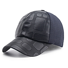 Middle-Aged Winter Cotton Blending Earmuffs Baseball Cap Outdoor Warm Dad Hat Peaked Cap