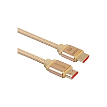Henoesty Metre HDMI Aluminum Male High Speed Cable With Ethernet 3D 4K 1080p HD 1M
