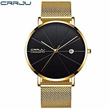 Man Watches Analog sports Wristwatch Display Date Men's Quartz Watches Business Watch Men Watch - Gold