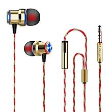 Dual-colored Metal Earphone Wire-controlled Earplug with Mac Universal Earplug