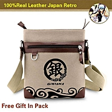 182d51bb526e Kisnow Japan Fashion 100% Real Canvas amp Leather Retro Anime Single  Shoulder Crossbody Bags(