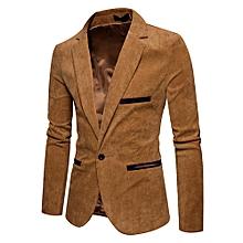 b59ab7e8dd0f Fashion Men's Autumn Winter Casual Corduroy Slim Long Sleeve Coat Suit  Jacket