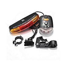 3in1 Bicycle Bike 7 LED Turn Signal Brake Light Flash Lamp +8 Sound Horn + Mount