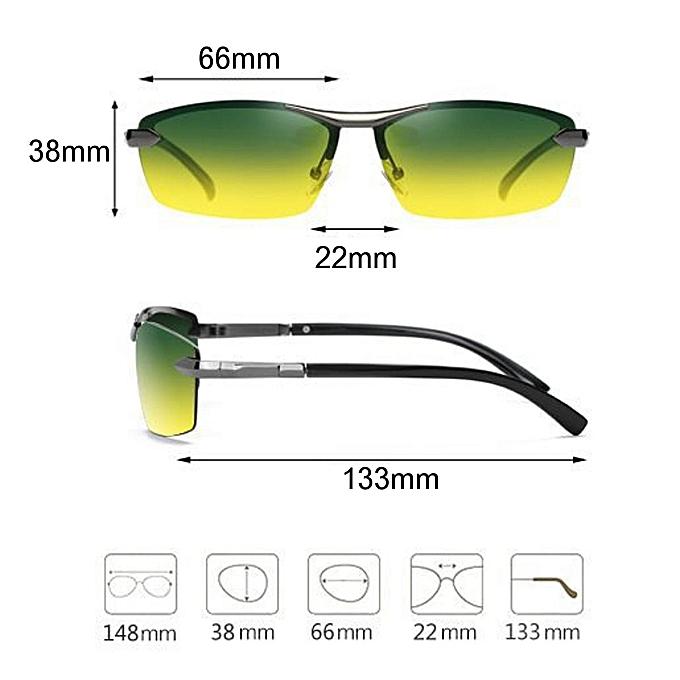 31dd8baacd3 ... UV Day Night Vision Men s Polarized Sunglasses Driving Pilot Mirror Sun  Glasses ...