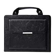 Universal Carrying Handle Handbag PU Leather Mini Case Cover For IPad2 3 4 Black