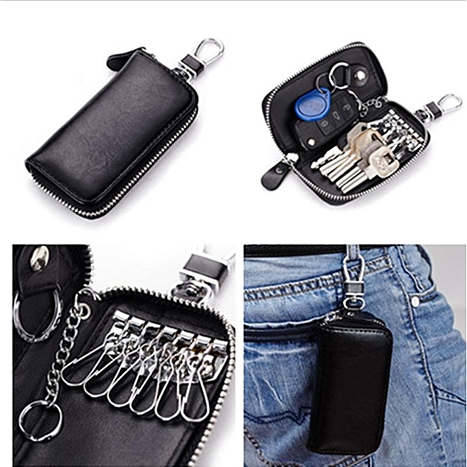 Genuine Cow Leather Car Key Bag Men s Wallet   Women s Multi Function Key  Case 22801c5262