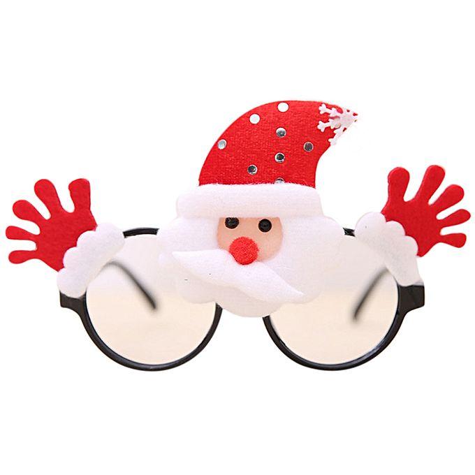neworldline christmas glasses frame xmas decoration novelty fancy dress santa snowman xmas red buy online jumia kenya - Santa Snowman 2