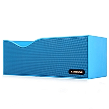 Sardine B1 Bluetooth V2.1 + EDR Stereo Speaker Support FM Radio Hands free LED Display with USB TF Card AUX Line In Port (Blue) By BDZ