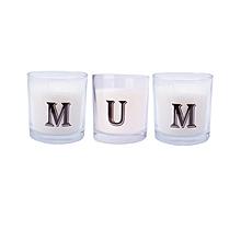 """MUM"" Alphabet Scented candle set - White"