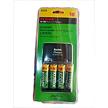 K620-EC AA Size Rechargeable Battery and Adapter charger