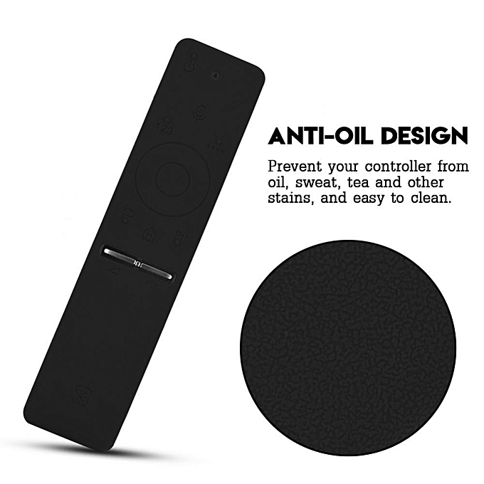 Cover Case for Remote Control Soft Silicone Rubber Dustproof Protective  Case Cover for TV Remote Controller Black