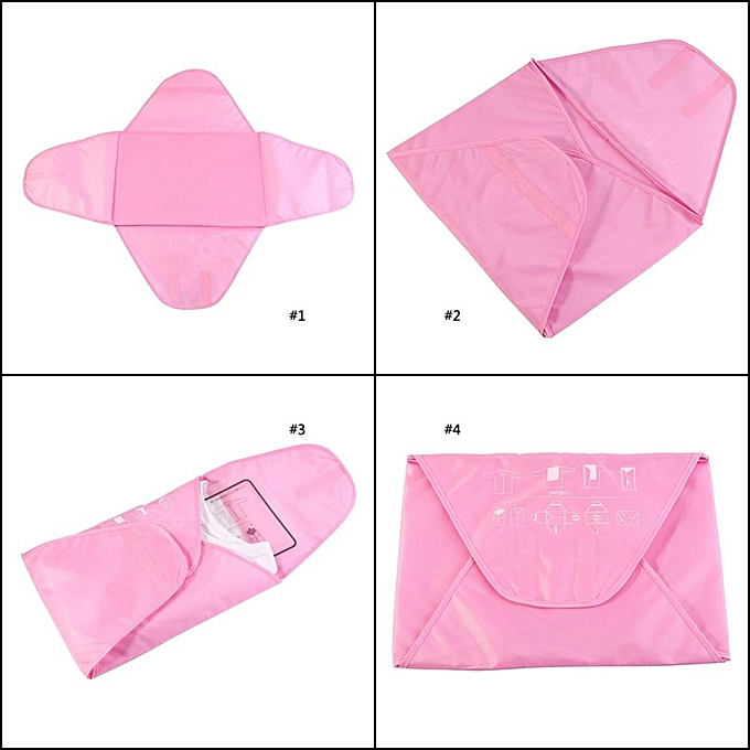 0649096c44 ... Portable Folding Travel Shirt Suit Storage Bag Preventing Wrinkle  Clothes Organizer Pack(Green) ...