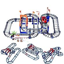 73pcs Block Set Rotate DIY Twister Car Racing Tracks Electric Car Toy