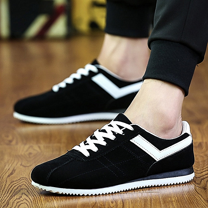 High Quality Sneakers Fashion Men's Vulcanize Shoes Black White Men's Flat Shoes Spring Summer Man Lace ...