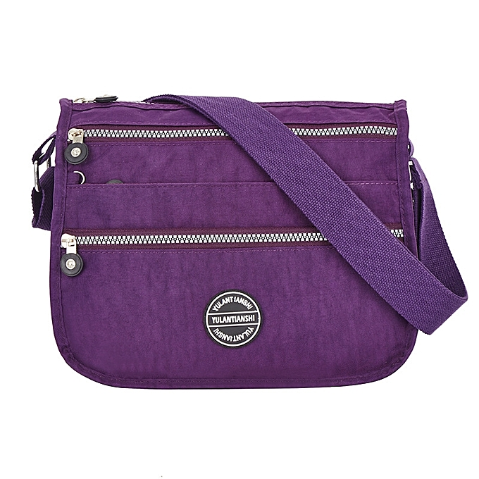 2f1ff7073999 Women Waterproof Lightweight Nylon Multi-pockets Shoulder Bag Crossbody Bags  ...
