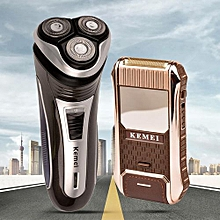 Electric Shaver Triple Floating Blade Electric Razors+Electric Reciprocating Rechargeable Men Shaver Razor