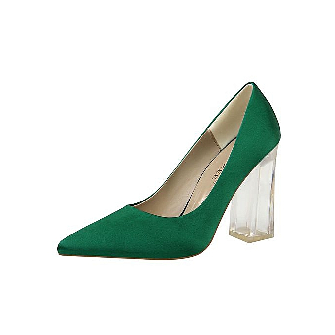 eeacafd78be 2019 New Fashion High Heels Square Heel Wedding Shoes Woman Pumps Pointed  Toe Party Women Shoes High-Heeled Shoes Ladies Shoes