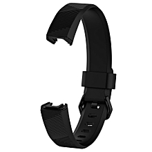 Large Replacement Wrist Band Silicon Strap Clasp For Fitbit Alta HR Watch BK-Black