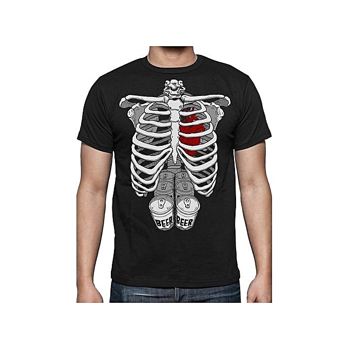 977e649c Halloween Skeleton Six Pack Beer Abs Xray Funny Easy Costume Men's T-Shirt  Cool