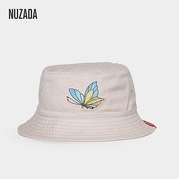 f1865fc4d60 Fashion Embroidery Outdoor Fisherman Cap Cotton Women Folding Bucket ...