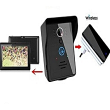 Smart Wireless Doorbell Wifi Video Camera + 7 Inch Android Tablet- Black